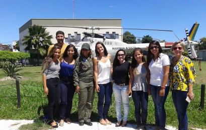 Alunos de Psicologia visitam Base Aérea Naval de São Pedro da Aldeia