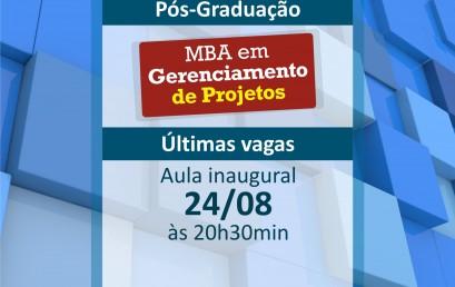Aula inaugural do MBA em Gerência de Projetos