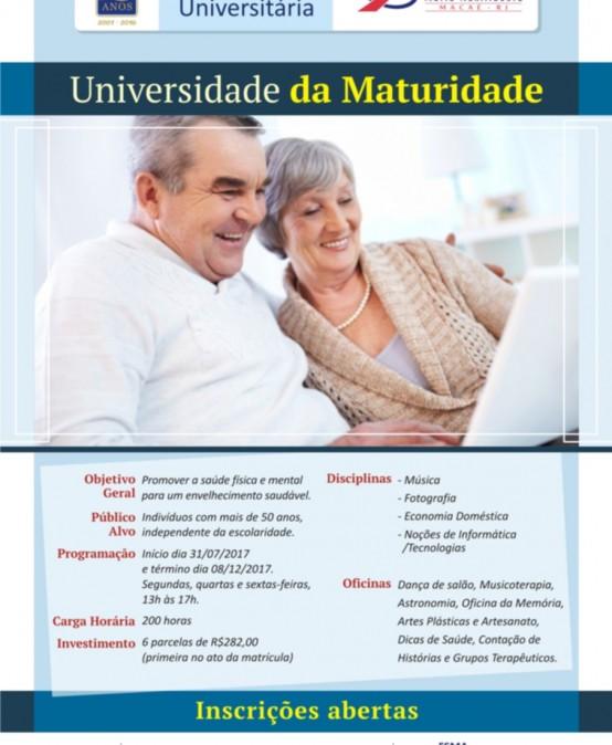 "Faculdade Salesiana abre Curso ""Universidade da Maturidade"""