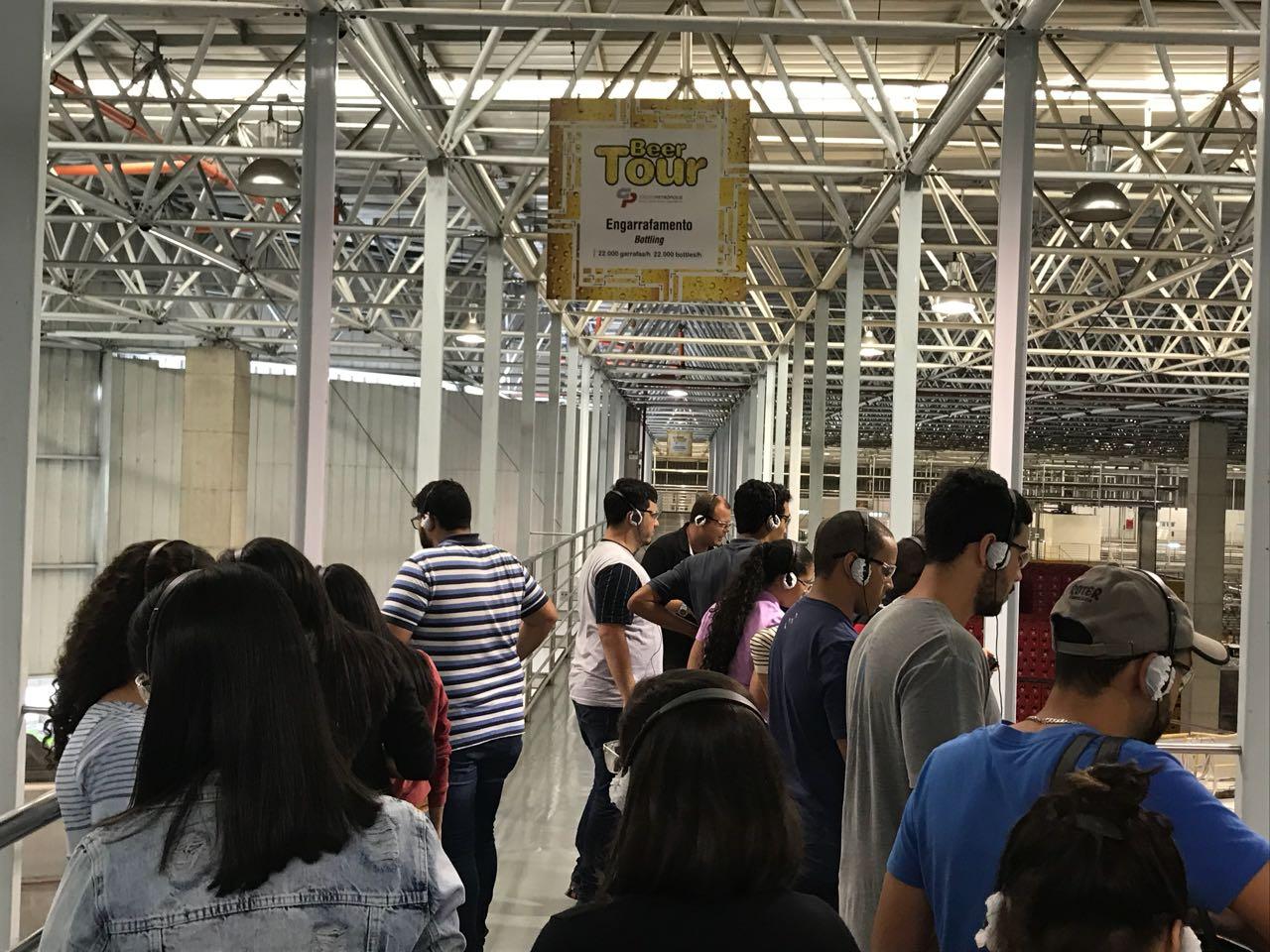 Visita à Fábrica da Itaipava tem como foco a produção