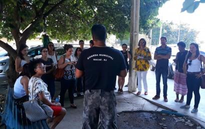 Alunos de Psicologia realizam visita técnica na Guarda Municipal de Macaé