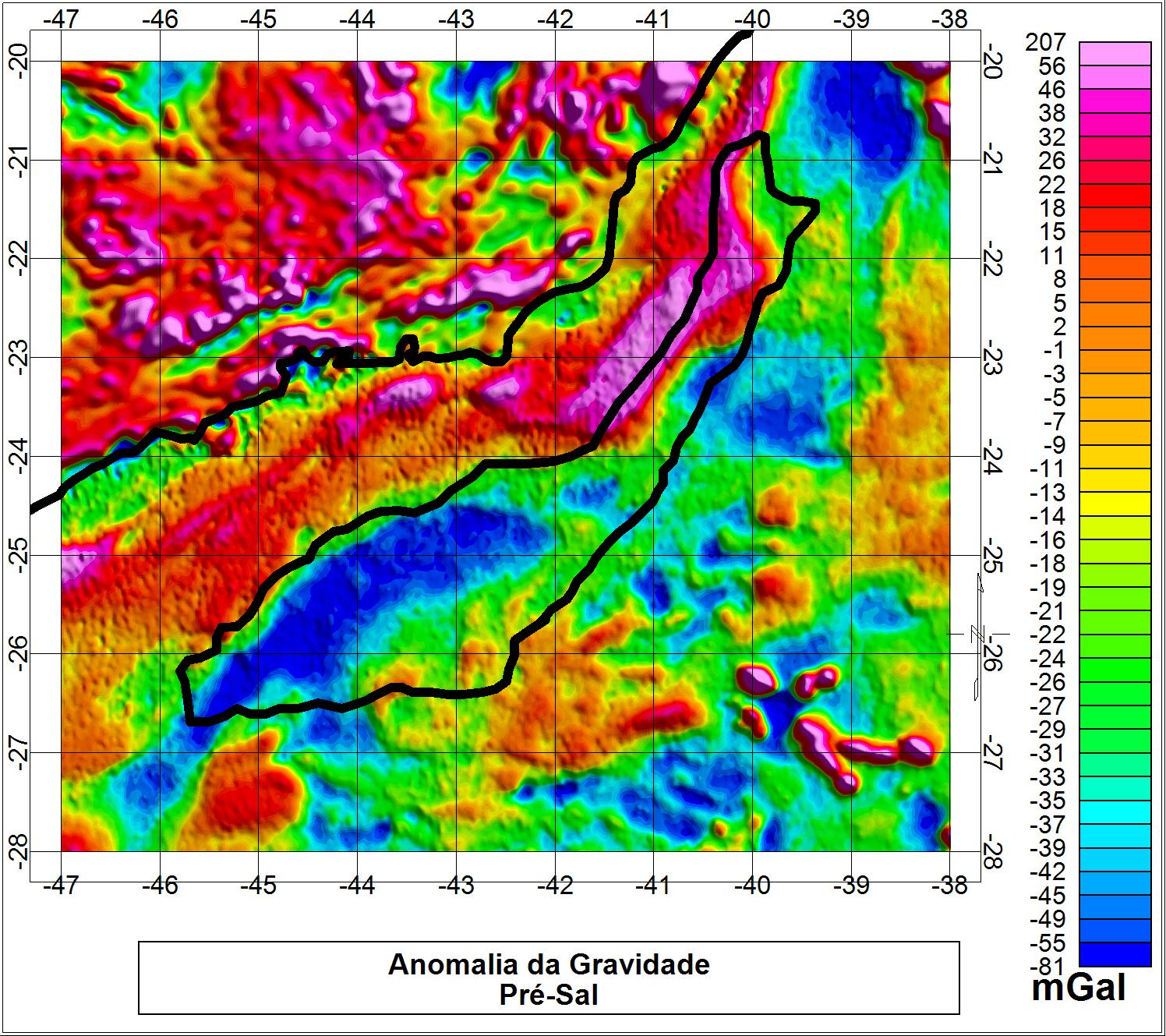 Avaliação do Geopotencial Gravitacional da Região do Pré-sal