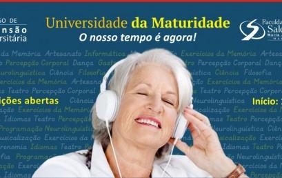 """Nova turma """"Universidade da Maturidade"""" com inscrições abertas"""