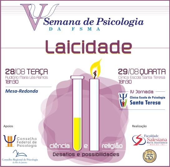 Laicidade é tema da V Semana de Psicologia da Salesiana