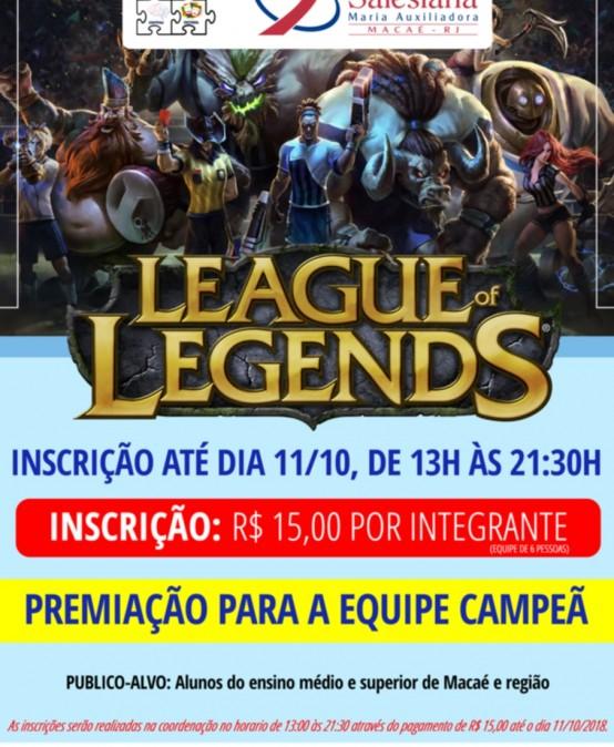 III Torneio de League of Legends da FSMA com inscrições abertas