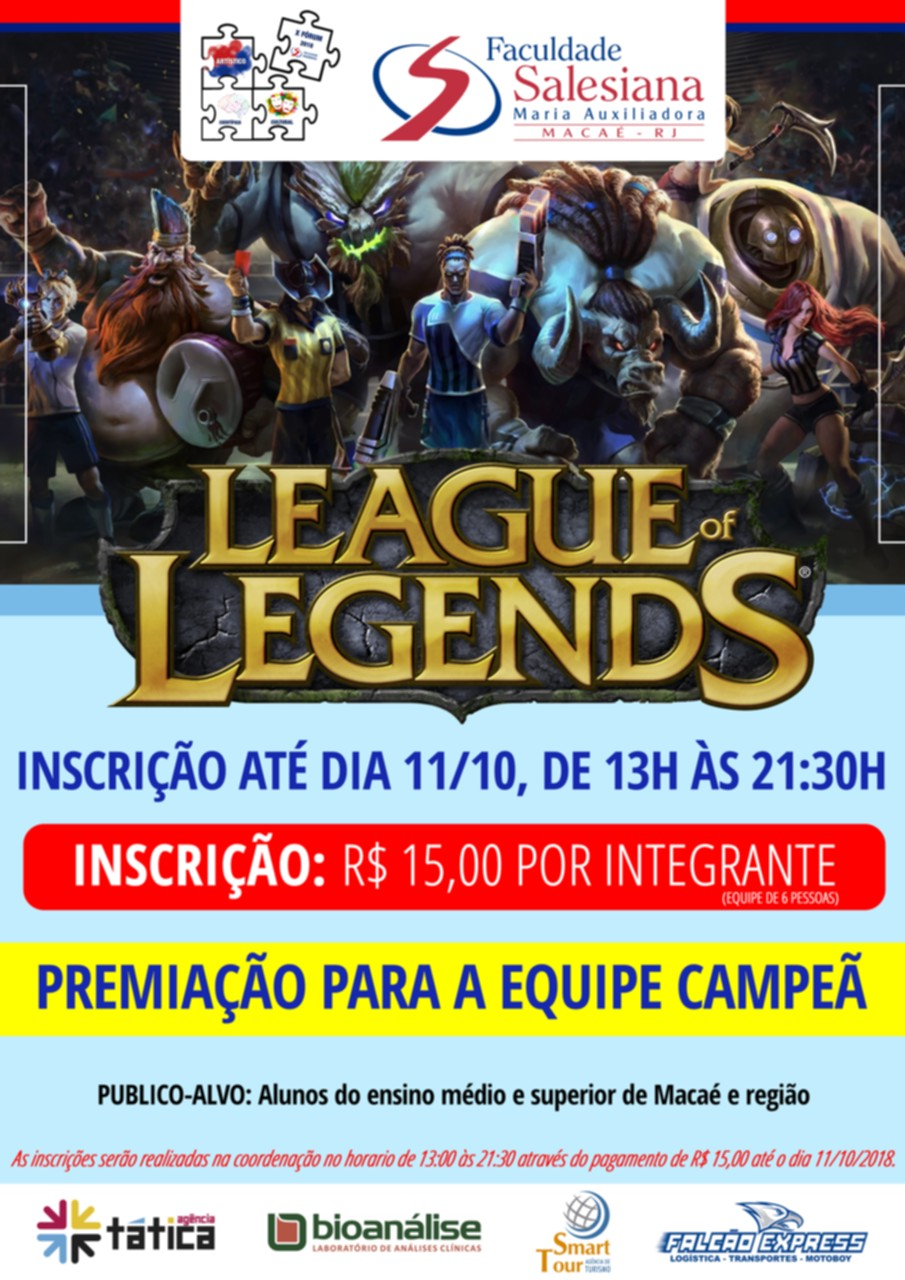 III Torneio de League of Legends da FSMA com inscrições abertas