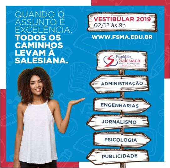 Vestibular 2019 na Faculdade Salesiana Macaé