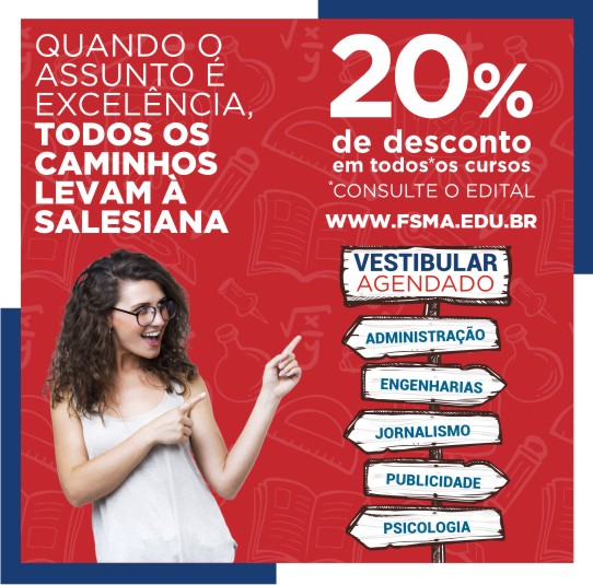 Vestibular agendado 2019 na Faculdade Salesiana