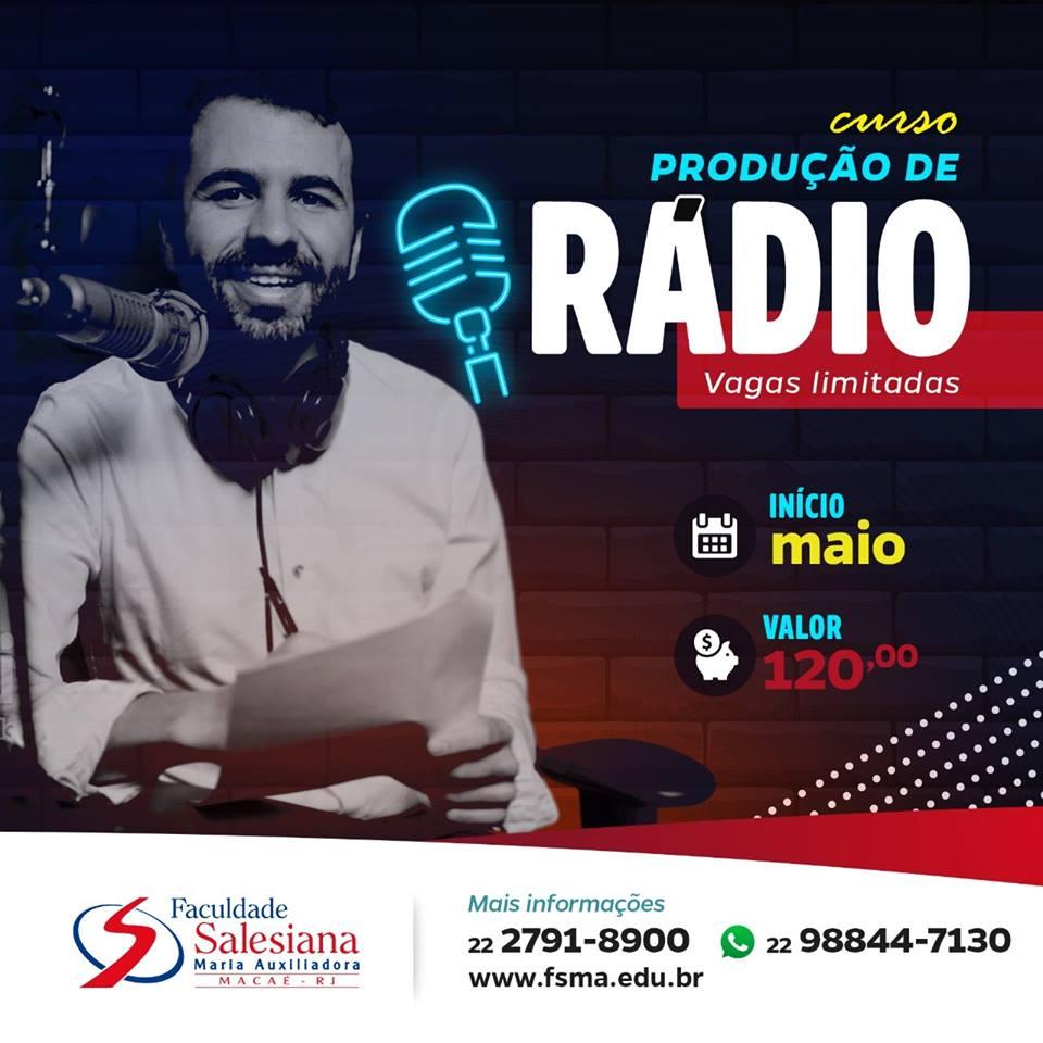Produção de Rádio: novo curso da Faculdade Salesiana