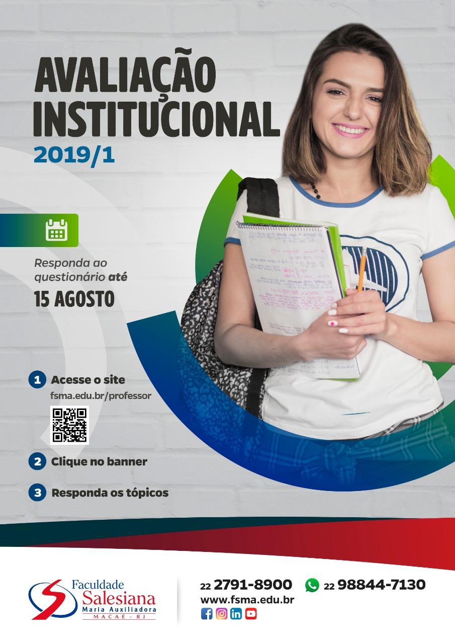Avaliação Institucional 2019.1 prorrogada até o dia 15