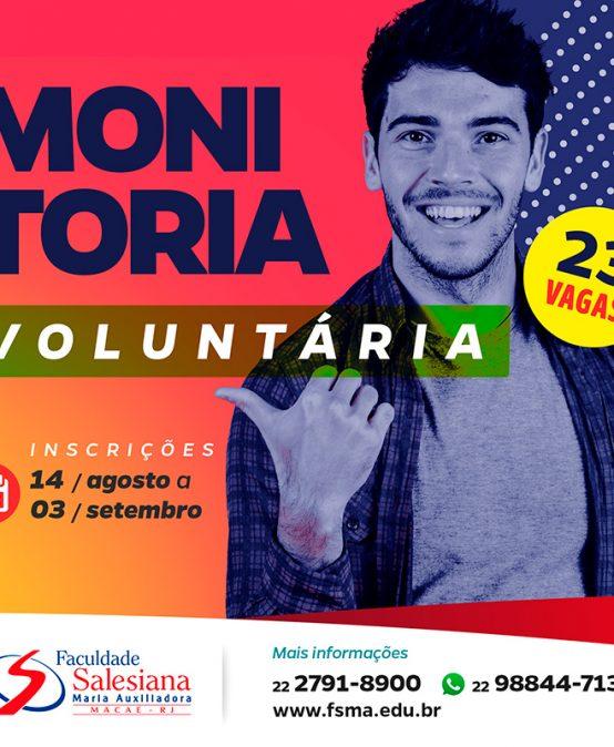 Inscrições para Monitoria Voluntária