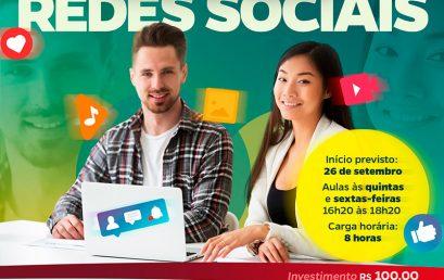 Inscrições abertas para Curso de Produção de Conteúdo Profissional para Redes Sociais