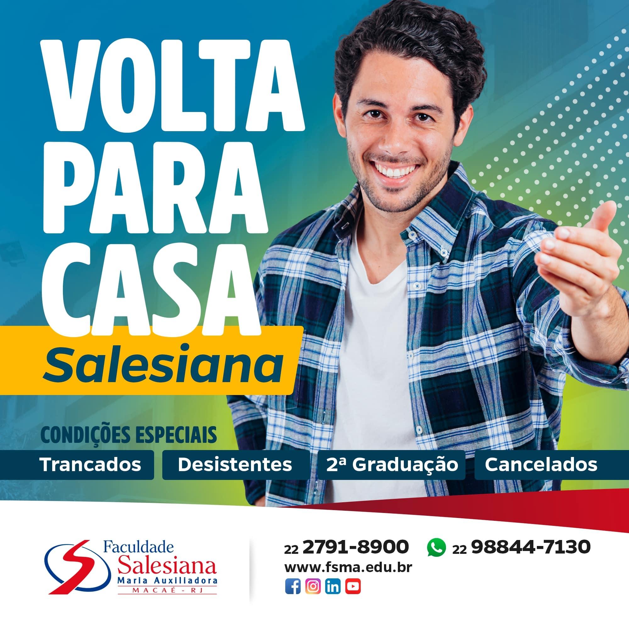 """""""Volta Para Casa Salesiana"""" oferece condições especiais"""