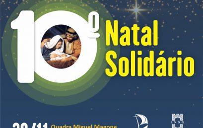 10ª edição do Natal Solidário será no dia 30