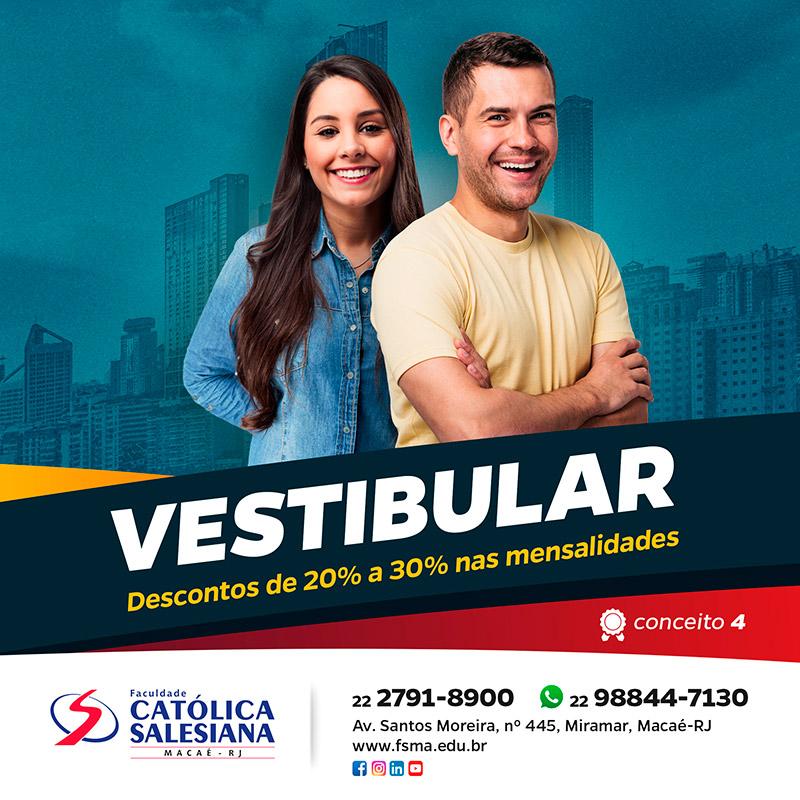 Católica Salesiana abre inscrição para o Vestibular 2020.1