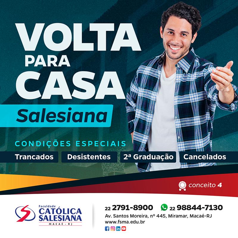 """Condições especiais no """"Volta Para Casa Salesiana"""""""