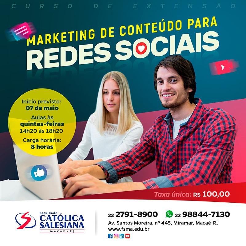 Curso de Marketing de Conteúdo na Católica Salesiana