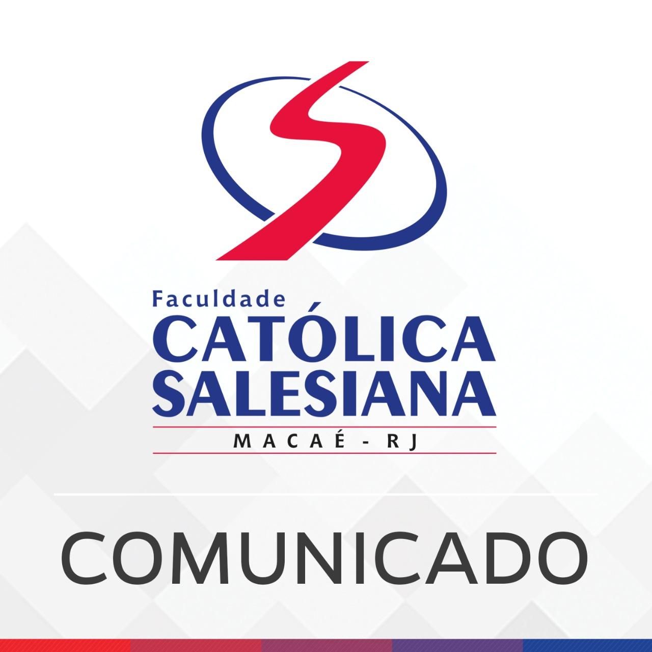 COMUNICADO – Suspensão de aulas