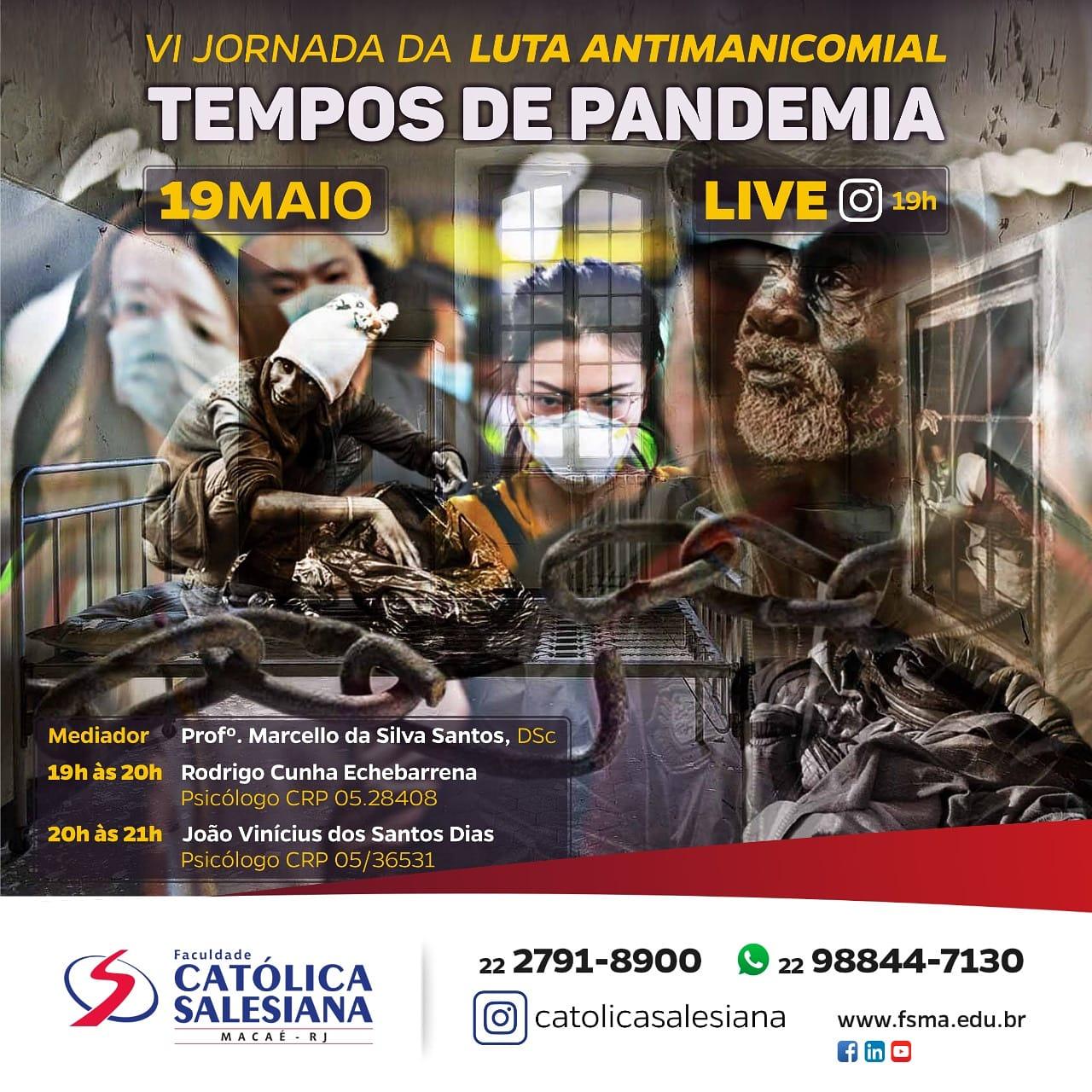 """Jornada da Luta Antimanicomial será realizada por """"Live"""""""