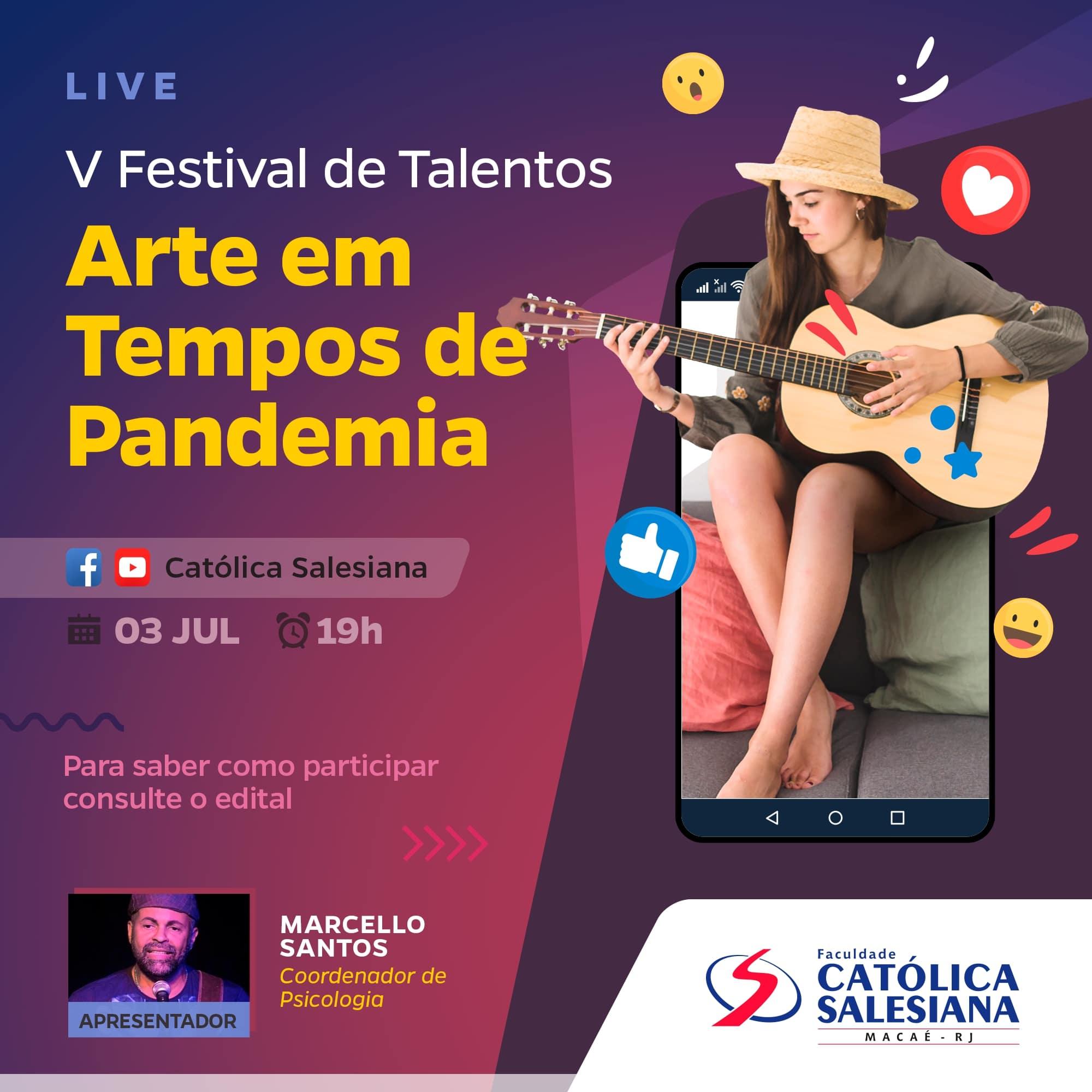 Em 2020, o Festival de Talentos da Católica Salesiana será online