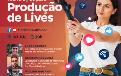 """Live sobre """"Técnicas e Tecnologias para a Produção de Lives"""" acontecerá na quinta-feira"""