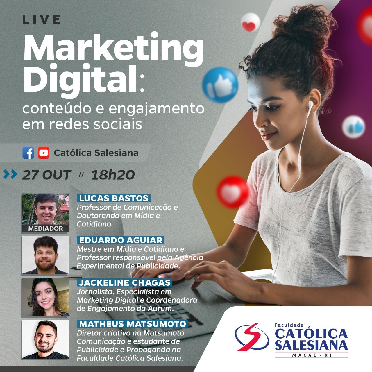 Católica Salesiana vai realizar Live sobre Marketing Digital