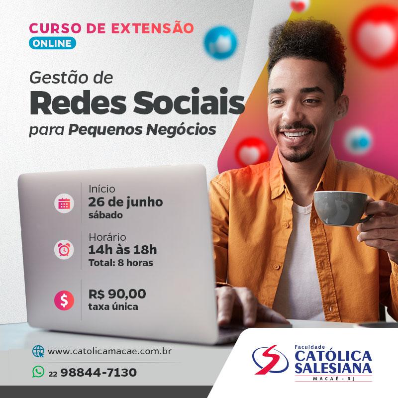 Inscrições abertas para curso de gestão de redes sociais na Católica Salesiana
