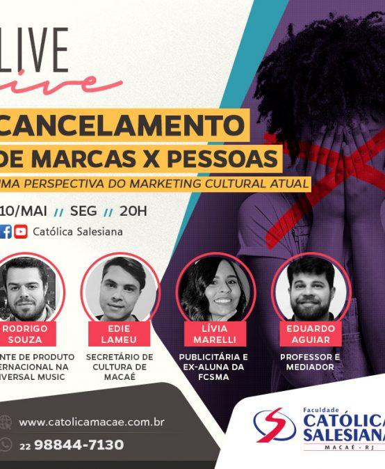 Era do cancelamento de marcas vira tema de live da Católica Salesiana