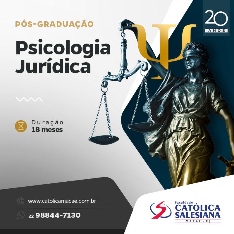 Novo curso de pós-graduação é voltado para a Psicologia Jurídica