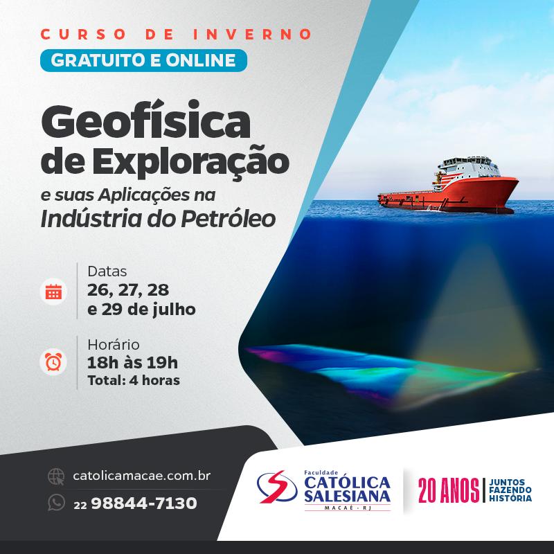 Inscrições abertas para curso gratuito de Geofísica
