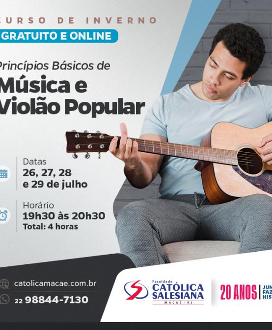 Inscrições abertas para curso de violão popular